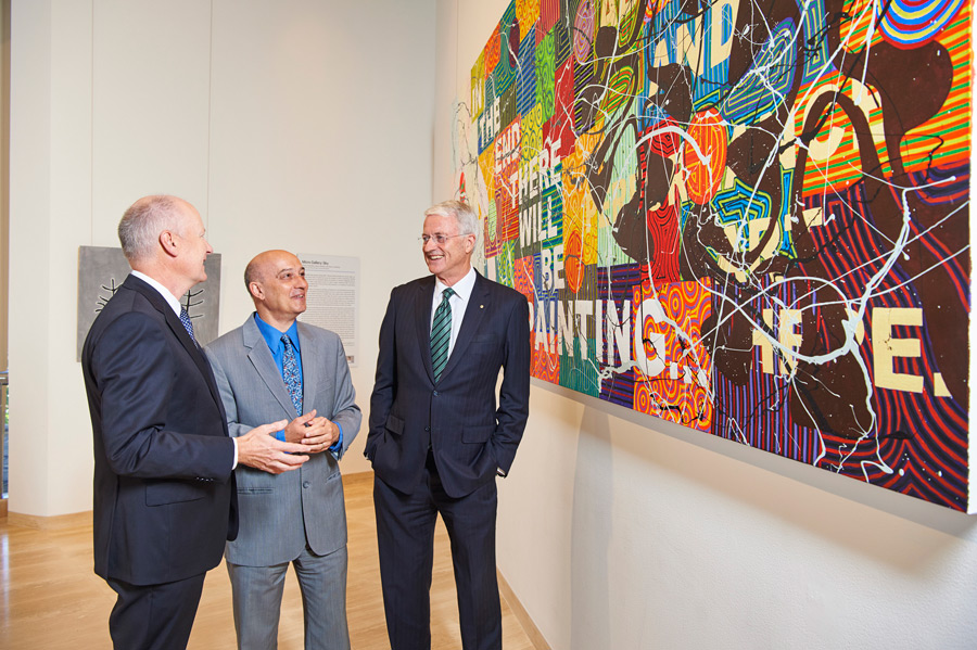 from left: Richard Goyder with AGWA Director Stefano Carboni and Wesfarmers Chairman Michael Chaney