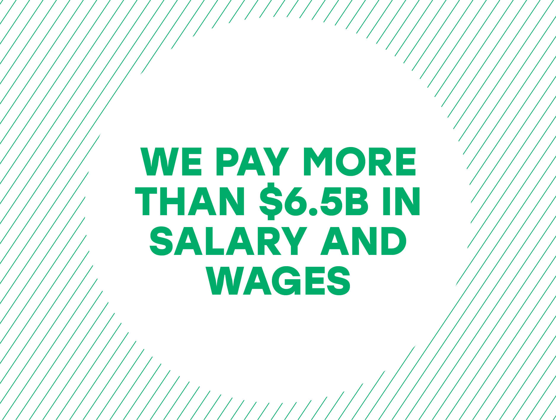 We pay more than 6.5 billion dollars in salary and wages