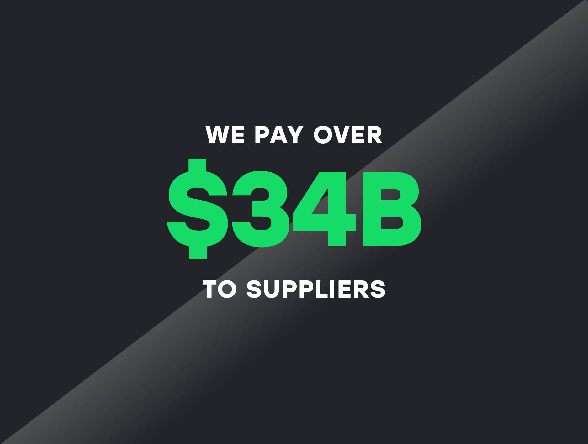 We pay over 34 billion dollars to suppliers
